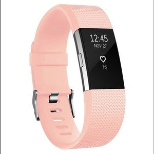 Accessories - Fitbit Charge Silicone Replacement Band Blush Pink